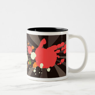 Grunge My Identity Hand Colourful Mug