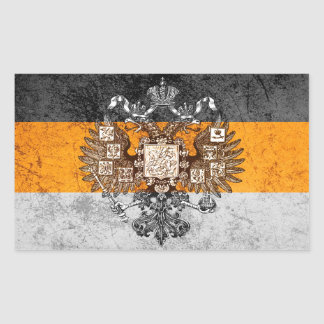 Grunge Nationalist Russia Flag Rectangular Sticker