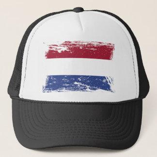 Grunge Netherlands Flag Trucker Hat