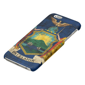 Grunge New York State Flag iPhone 6 Plus Case