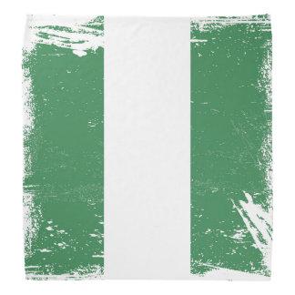 Grunge Nigeria Flag Bandana