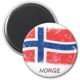 Grunge Norway Flag Magnet