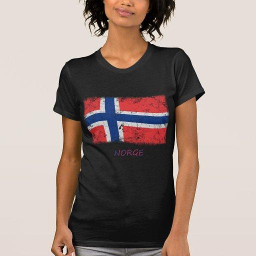 Grunge Norway Flag Tshirt