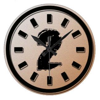 GRUNGE NUMBER 2 WALLCLOCK