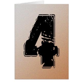 GRUNGE NUMBER 4 NOTE CARD