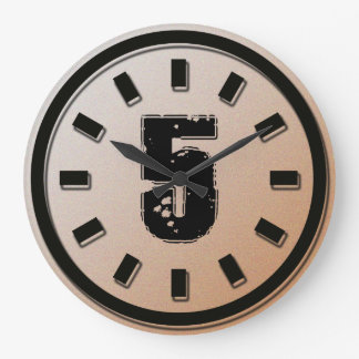 GRUNGE NUMBER 5 WALL CLOCK
