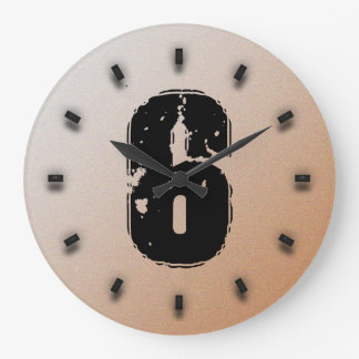 GRUNGE NUMBER 6 WALL CLOCK