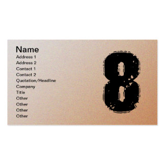 GRUNGE NUMBER 8 PACK OF STANDARD BUSINESS CARDS