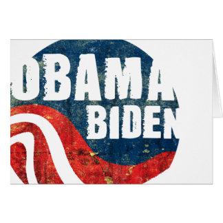 Grunge Obama Biden Greeting Card