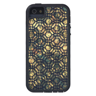 Grunge Oil and Water Olive Marbled Metallic Foil Case For The iPhone 5