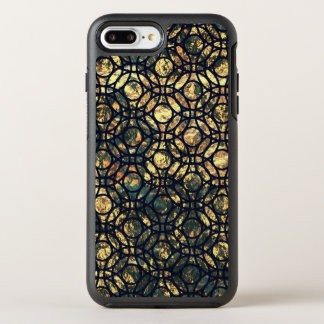 Grunge Oil and Water Olive Marbled Metallic Foil OtterBox Symmetry iPhone 7 Plus Case