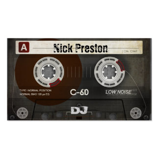 Grunge Old Cassette | Cool DJ Pack Of Standard Business Cards