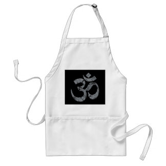 Grunge OM Symbol Spirituality Yoga Adult Apron