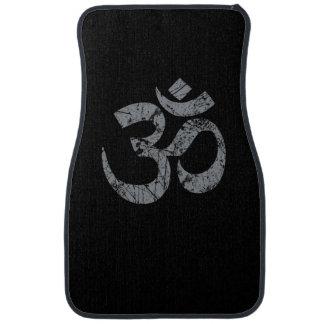 Grunge OM Symbol Spirituality Yoga Car Mat