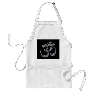 Grunge OM Symbol Spirituality Yoga Standard Apron