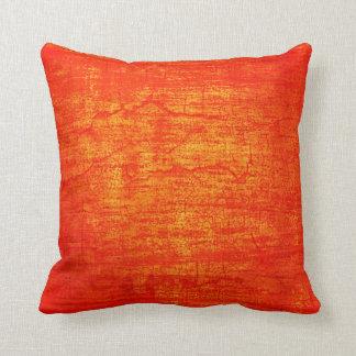 Grunge Orange Paint abstract art Cushion