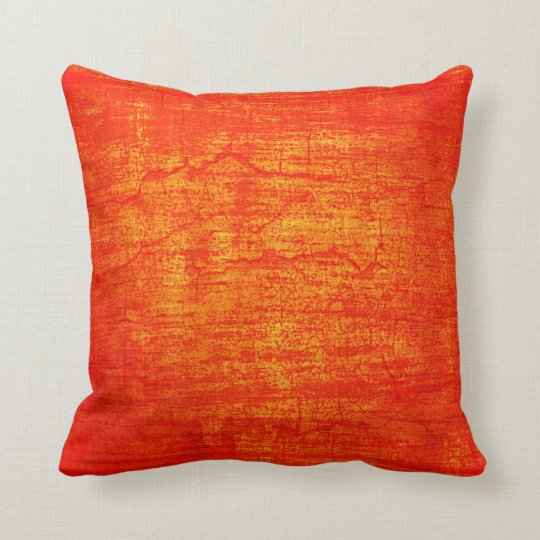 Grunge Orange Paint abstract art Cushion
