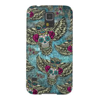 Grunge Owls with sugar skulls Case For Galaxy S5