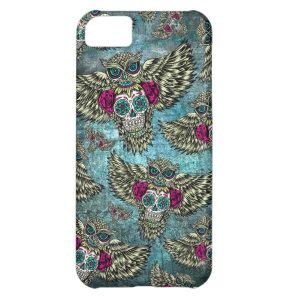 Grunge Owls with sugar skulls iPhone 5C Case