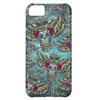 Grunge Owls with sugar skulls iPhone 5C Case