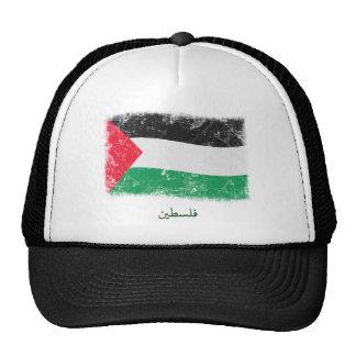 Grunge Palestine Flag Mesh Hat