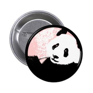 grunge panda. 6 cm round badge