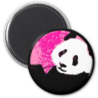 grunge panda. 6 cm round magnet