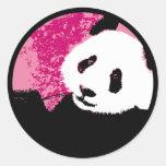 grunge panda. round stickers