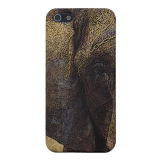Grunge Parchment Majestic African Elephant iPhone 5 Case
