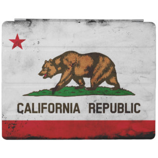 Grunge Patriotic California State Flag iPad Cover