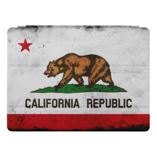 Grunge Patriotic California State Flag iPad Pro Cover