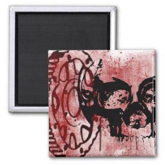 Grunge Pattern 147 Square Magnet