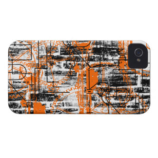 Grunge Pattern 60 iPhone 4 Cover