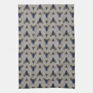 Grunge Pattern Tea Towel