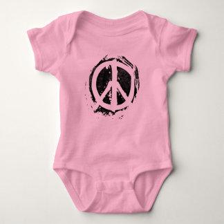Grunge Peace Symbol Baby Bodysuit