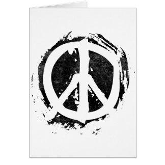 Grunge Peace Symbol Greeting Card