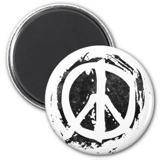 Grunge Peace Symbol Magnets