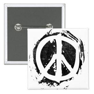 Grunge Peace Symbol Pins