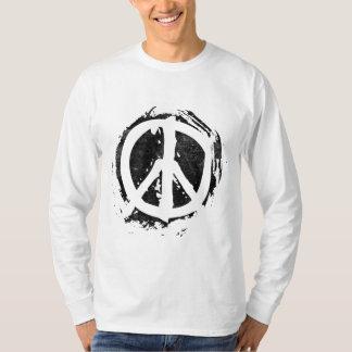 Grunge Peace Symbol Tshirt