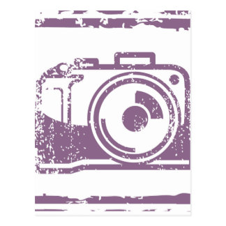 Grunge Photo Camera Stamp Postcard