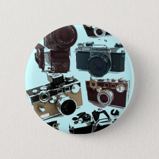 Grunge photographer photography Vintage Camera 6 Cm Round Badge