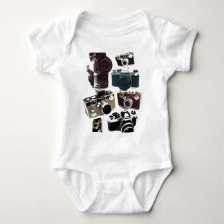 Grunge photographer photography Vintage Camera Baby Bodysuit
