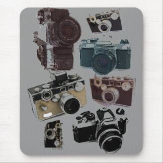 Grunge photographer photography Vintage Camera Mouse Mat