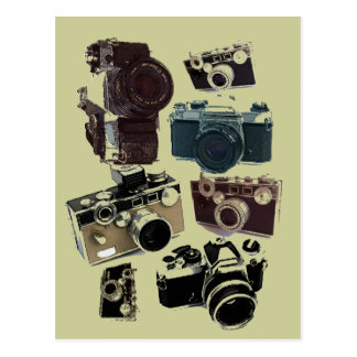 Grunge photographer photography Vintage Camera Postcard