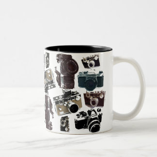 Grunge photographer photography Vintage Camera Two-Tone Coffee Mug