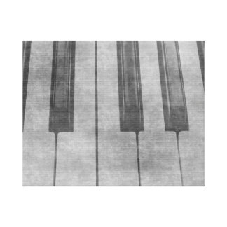 Grunge piano keyboard muted grey image gallery wrapped canvas