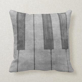 Grunge piano keyboard muted grey image cushion