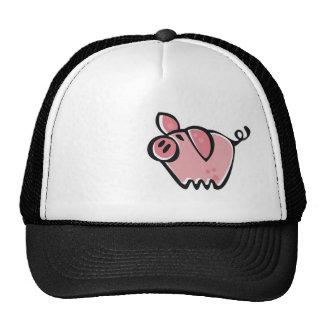 Grunge Pig Trucker Hats