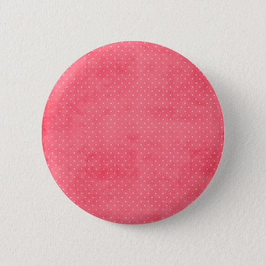 Grunge pink and white dots 6 cm round badge