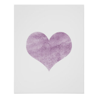 'Grunge Pink Heart'  Poster - Wall Decor